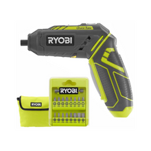 Load image into Gallery viewer, RYOBI HP44LK 4-Volt QuickTurn Lithium-Ion Cordless 1/4 in. Hex Screwdriver Kit