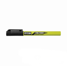 Load image into Gallery viewer, RYOBI Black Fine Point Permanent Workshop Marker RPM121