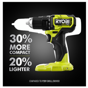 RYOBI ONE+ HP 18V Brushless Cordless Compact 1/2 in. Drill/Driver PSBDD01