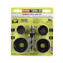 Load image into Gallery viewer, RYOBI Carbon Hole Saw Set (5-Piece) A10HS509