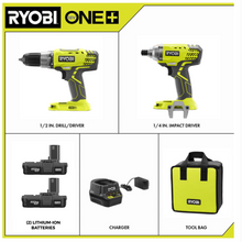 Load image into Gallery viewer, Ryobi 18-Volt ONE+ Cordless P1832 Drill and Impact Combo Kit