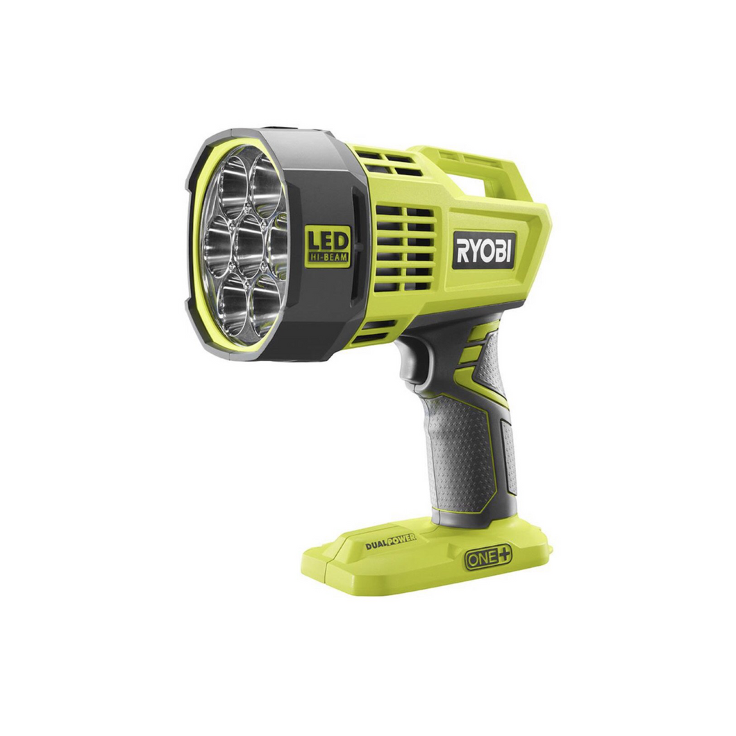 RYOBI P717 18-Volt ONE+ Hybrid LED Spotlight (Tool Only) with 12-Volt Automotive Cord