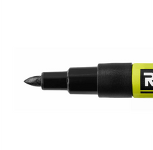 Load image into Gallery viewer, RYOBI Black Fine Point Permanent Workshop Marker