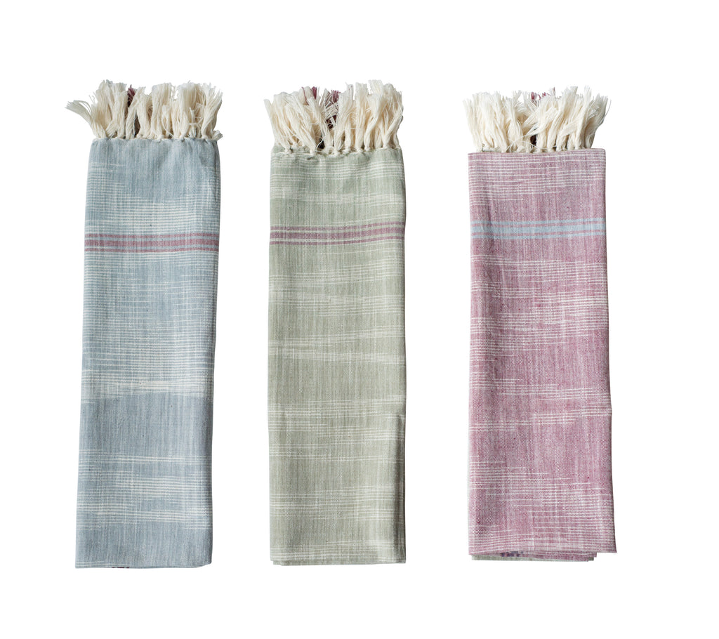 Stripes & Fringes Tea Towel, 3 Colors