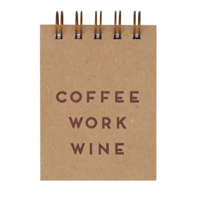 Mini Coffee Work Wine Journal