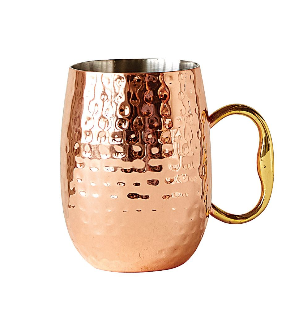 Stainless Steel Moscow Mule with Copper Finish