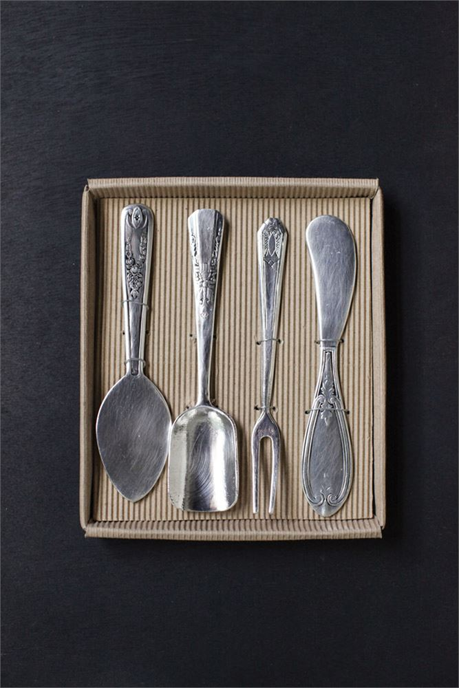 Cheese Serving Utensils, Boxed Set of 4