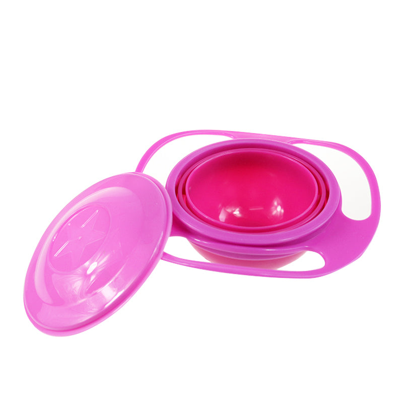 Baby Anti Spill Bowl - 360 Degrees Rotation Gyroscopic Bowl For Babies