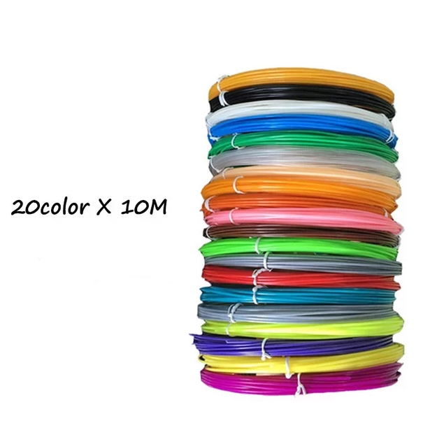 20 Colors X 10 Meters Each - Organic PLA Filament