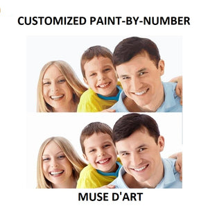 Be Your Own Muse / Paint Yourself - Custom Paint By Number Kit