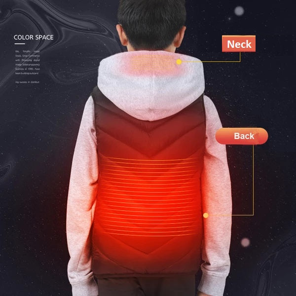 Kids Heated Vest - 3 Adjustable Heating Levels