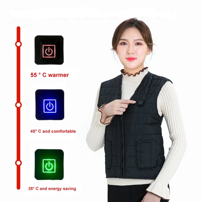 Women Waterproof and Lightweight USB Heating Vest
