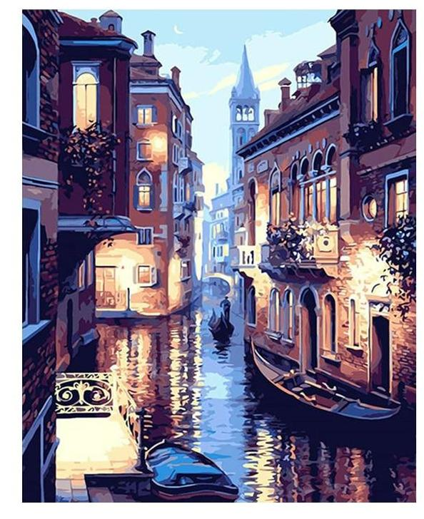 Muse D'art Venice Night DIY Painting By Numbers - Be your own artist!