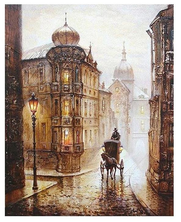 Muse D'art Vintage European Street DIY Painting By Numbers - Be your own artist!