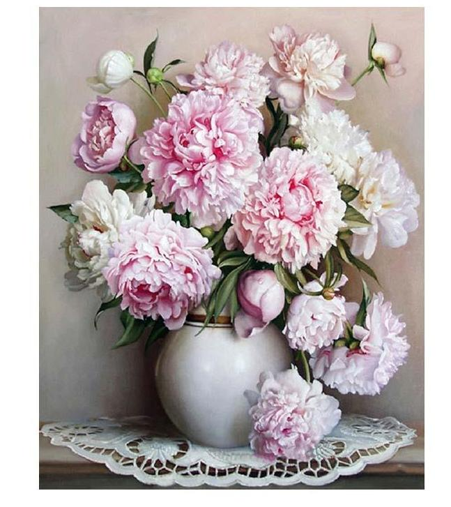 Muse D'art Flowers DIY Painting By Numbers - Be your own artist!
