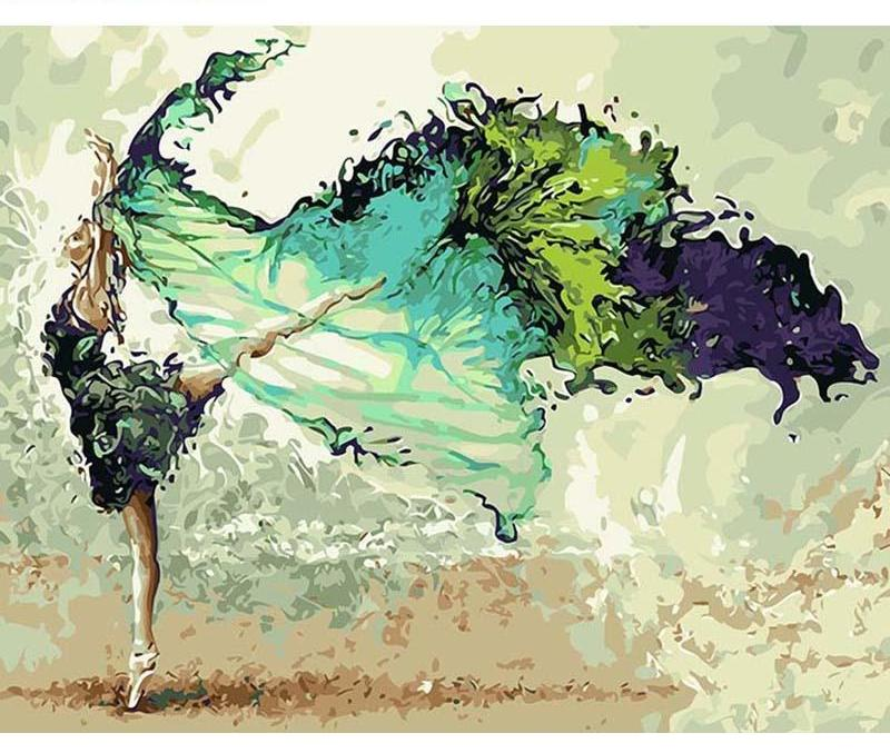 Muse D'art Dancer DIY Painting By Numbers - Be your own artist!