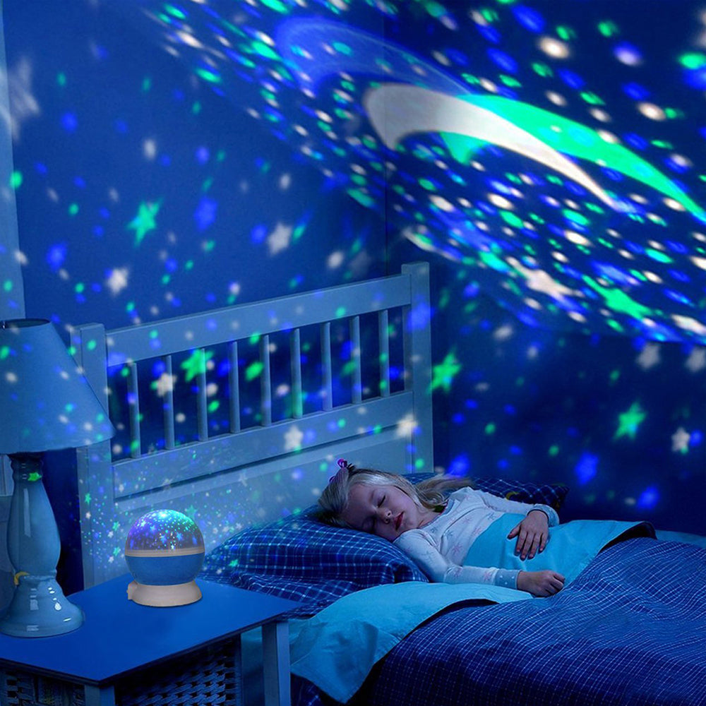 LED Rotating Star Projector - Baby Night Light