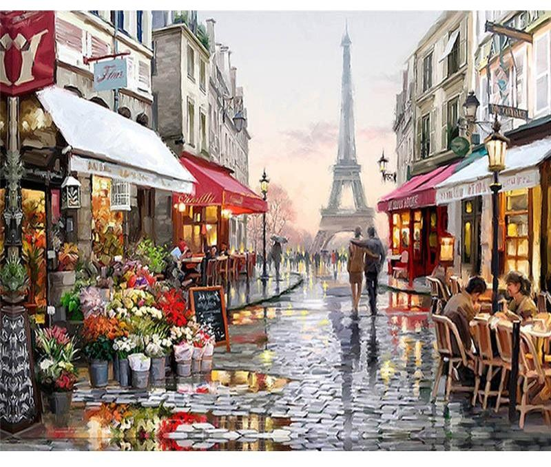 Muse D'art Street In Paris DIY Painting By Numbers - Be your own artist!