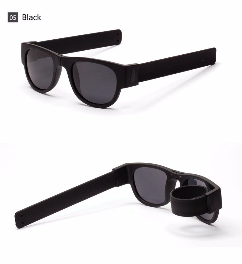 Slap Bracelet Sunglasses - Wristband Unisex Glasses