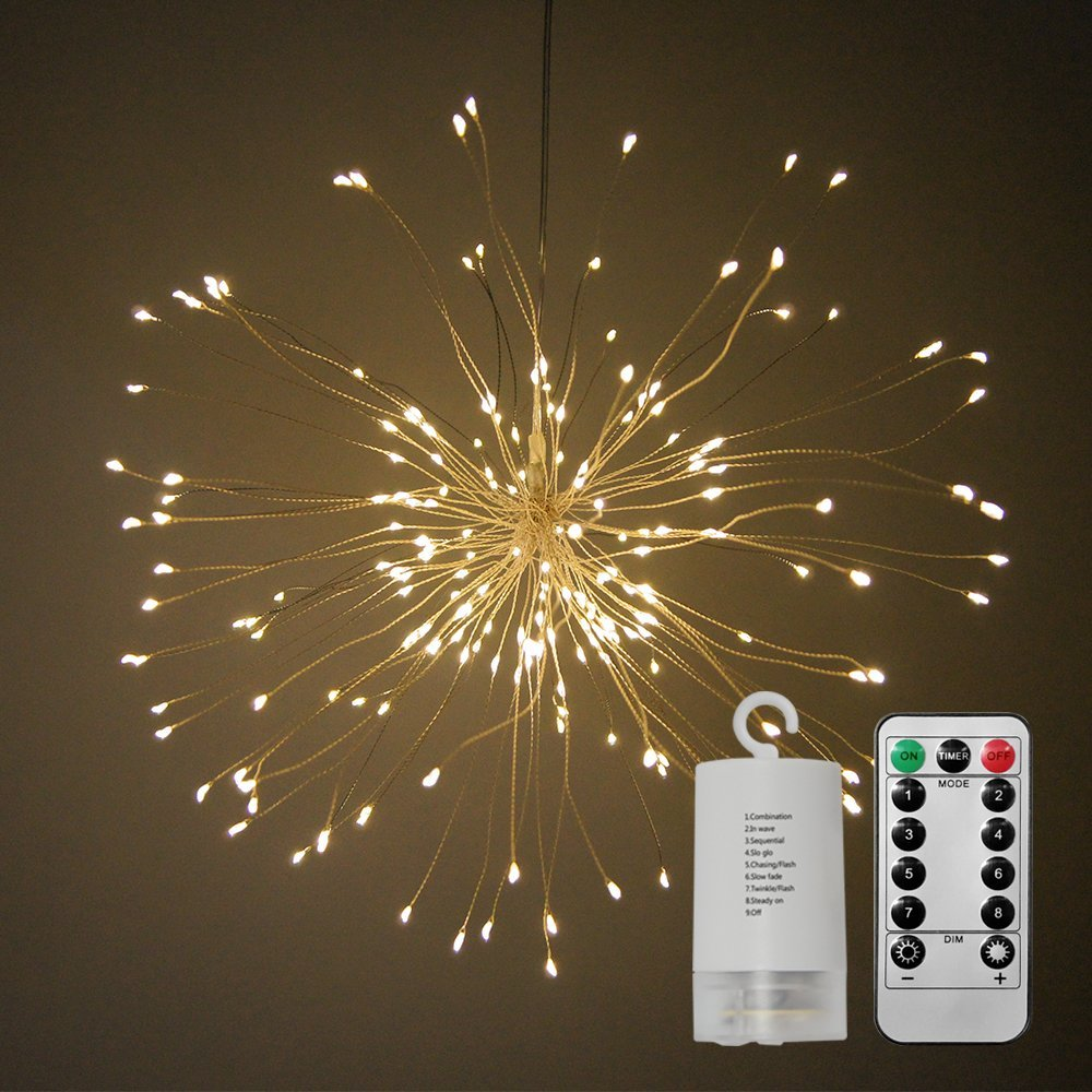 Christmas 150 LED Warm Light Firework Decoration