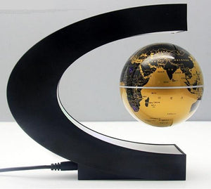 LED Floating Globe - Sci-Fi Magnetic Desk Lamp