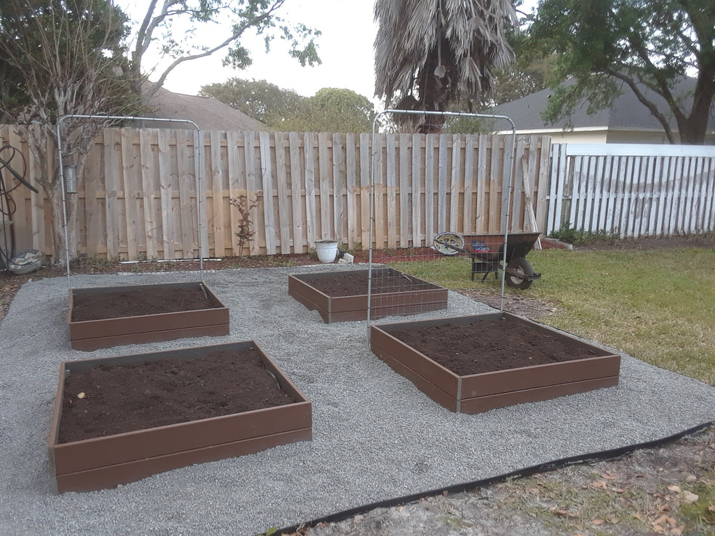 Composite Lumber Raised Beds