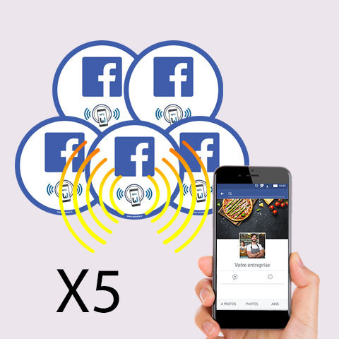 Mini stickers Facebook PLV voiture et ordinateur portable - lot de 5
