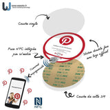Sticker Pinterest PLV Vitrine et comptoir NFC (version US) - Weestix