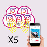 Mini stickers Instagram PLV voiture et ordinateur portable - lot de 5