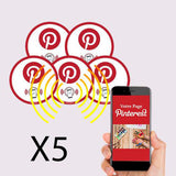 Mini stickers Pinterest PLV voiture et ordinateur portable - lot de 5