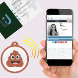 Carte de visite avec puce NFC Smiley