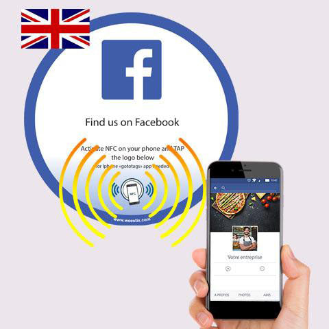 Sticker Facebook PLV vitrine et comptoir NFC (Version US) - Weestix