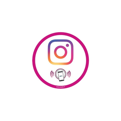 Mini stickers Instagram PLV voiture et ordinateur portable - lot de 5 - Weestix