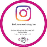 Sticker Instagram PLV vitrine et comptoir NFC (Version US) - Weestix