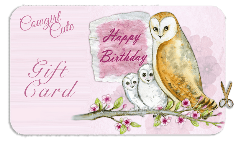 Happy Birthday Owl Gift Card [store_name}