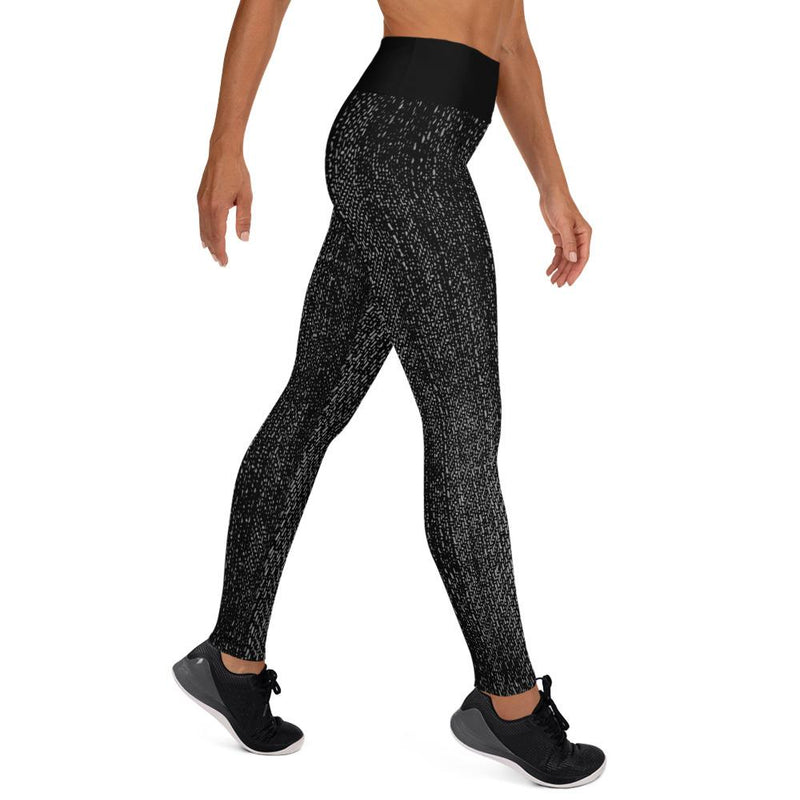 Black Jeans Print Yoga Leggings [store_name}