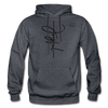 Joyful Graphic Cowboy Casuals Hoodie - charcoal gray