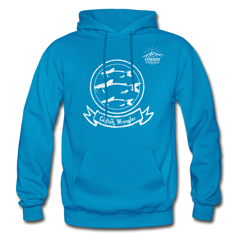 Catfish Wrangler Cowboy Casuals Hoodie - turquoise