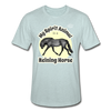 Reining Horse Spirit Animal Heather Tee - heather prism ice blue