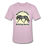 Reining Horse Spirit Animal Heather Tee - heather prism lilac