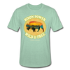 Bison Power Heather Tee - heather prism mint