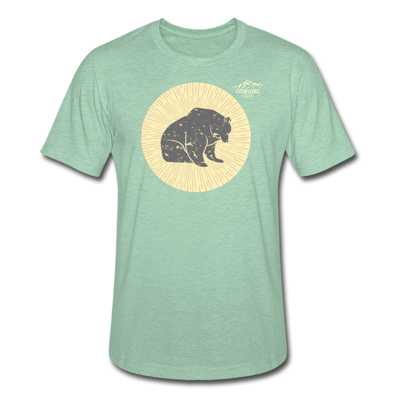 Moon Bear Heather Tee - heather prism mint