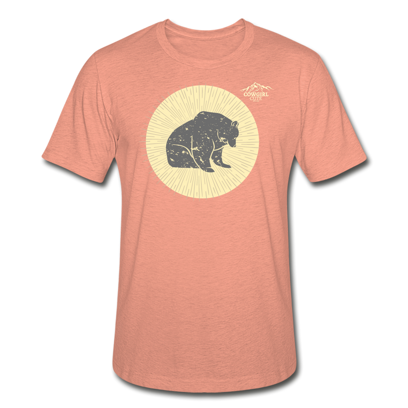 Moon Bear Heather Tee - heather prism sunset