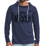 American Cowboy Terry Hoodie - heather navy