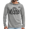 American Cowboy Terry Hoodie - heather gray