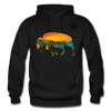 Bison at Yellowstone Hoodie - black