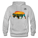 Bison at Yellowstone Hoodie - heather gray