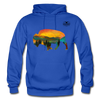 Bison at Yellowstone Hoodie - royal blue