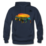 Bison at Yellowstone Hoodie - navy