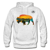 Bison at Yellowstone Hoodie - light heather gray